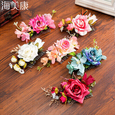 $2.62 • Buy Women Flower Hair Clips Slide Pin Comb Wedding Hairpin Hair Accessories Wedding