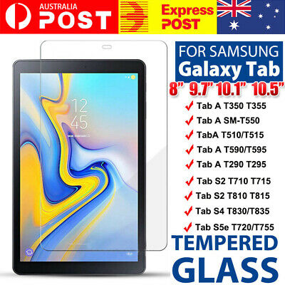 AU4.97 • Buy Tempered Glass Screen Protector For Samsung Galaxy Tab A 8.0 10.1 10.5 S5e S4 S3