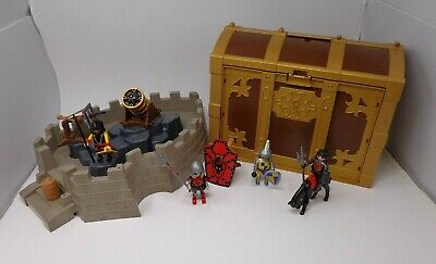 #2 Playmobil Knights Castle Chest Horse Weapon Figures Large Mixed Bundle Lot OS • 5£
