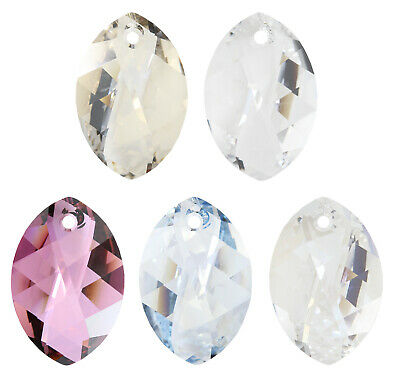 Genuine SWAROVSKI 6978 Neoglory Navette Crystal Pendants * Many Colors & Sizes • 3.98£