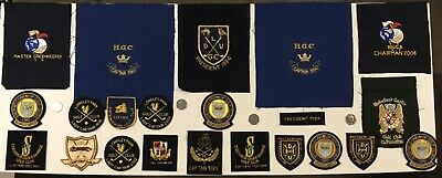22 Assorted Vintage Cloth Patches Badges - Golf - Most With Gold Wire.... • 25£