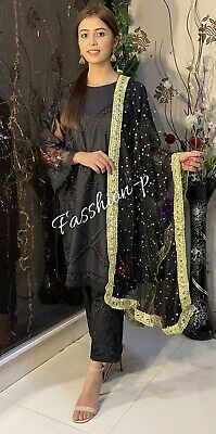 £13.99 • Buy Ladies Net Dupatta Head Cover /scarf/stole Pakistani/Indian Style Party Wear