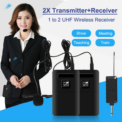 Handheld Wireless Microphone System Mic Headset Clip Lapel Transmitter Receiver • 9.89£