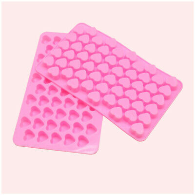 New 55 Love Heart Silicone Mould Mold Chocolate Candy Gummy Maker Ice Jelly Tray • 1.85£