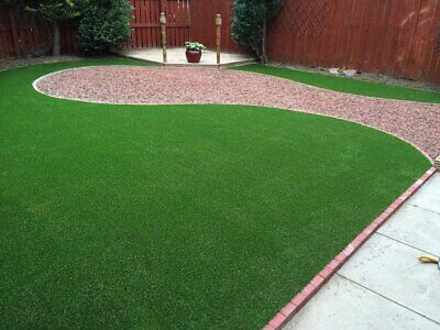 £19.95 • Buy Large 4m Artificial Grass Quality Garden Green Lawn Astro Turf Realistic Garden