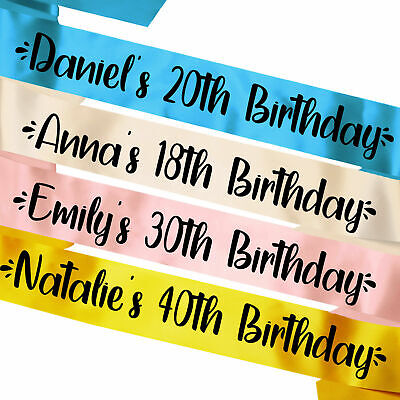 £3.95 • Buy Personalised Birthday Sash 16th 18th 21st 30th Lockdown Gift Idea Party Present