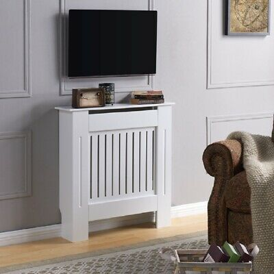 £39.99 • Buy Radiator Cover Wall Cabinet MDF Wood Furniture Vertical Grill White Grey Modern
