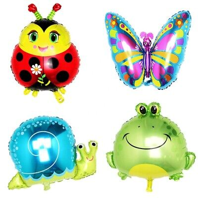 £2.49 • Buy BEE,LADYBUG, BUTTERFLY, SUNFLOWER, FROG Animal Foil Balloon Birthday Party Kids