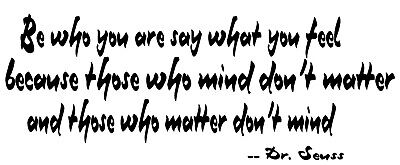 £4.99 • Buy Be Who You Are By Dr Seuss Vinyl Wall Decal Sticker Young Boy Girl Room 22x8.5