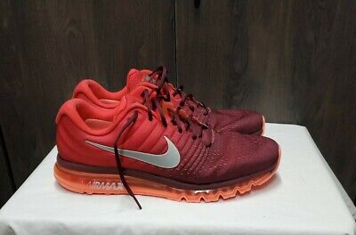 $45 • Buy Nike Air Max 2017 Maroon Running Shoes 849559-601 Size 15  US