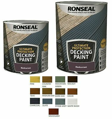 £28.95 • Buy Ronseal ULTIMATE Decking Paint - Revive - Rescue Protect Deck Wood - **New 2021