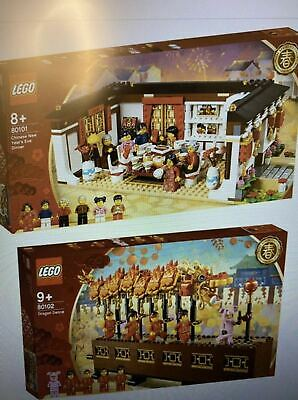 $519 • Buy * Ship From US * LEGO 80101 Chinese New Year Eve Dinner / 80102 Dragon Dance Set