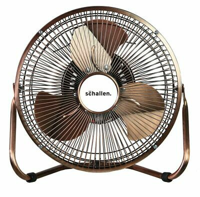 Schallen Copper 9  High Velocity Cold Air Circulator Adjustable Floor & Desk Fan • 19.99£