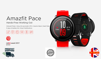 View Details New Xiaomi Amazfit Pace Smartwatch Bluetooth GPS HeartRate Fitness Waterproof  • 69.99£