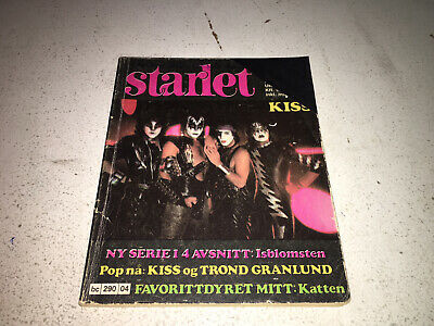 $40 • Buy KISS - Starlet Magazine .. Norway 1982 Creatures/Elders..very Rare.see Picture!