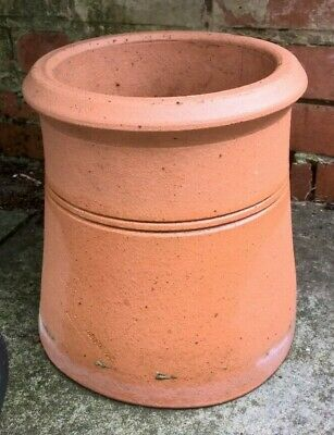"""Clay Chimney Pot Cannon Shape Roll Top 12"""" Height With 8"""" Internal Diameter • 14.99£"""
