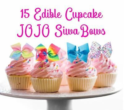 AU14.95 • Buy 15 Edible JOJO Siwa BOWS Cake Cupcake Decoration Toppers Images Birthday Party