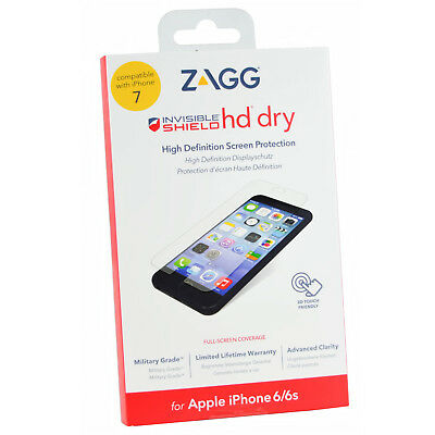 AU7.06 • Buy Zagg Invisible Shield Hd Dry Screen Protector For IPhone SE 2nd Gen 8/7/6/6S