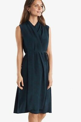 $ CDN183.92 • Buy NWT MM LaFleur Greer Dress In Brushstroke Dark Spruce Green Silk XL