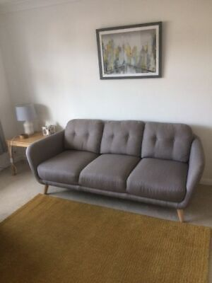 John Lewis Arlo Large 3 Seater Sofa In Dash Charcoal RRP £599 • 199£