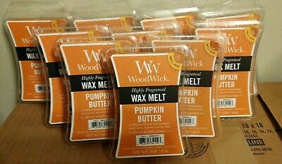 $39.99 • Buy Woodwick Highly Fragranced Pumpkin Butter Wax Melts 3 Oz. Lot Of 10 Packages