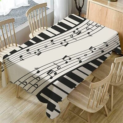 AU16.70 • Buy Piano Music Pattern Tablecloth Rectangular Cover Kitchen Dining Table Decor
