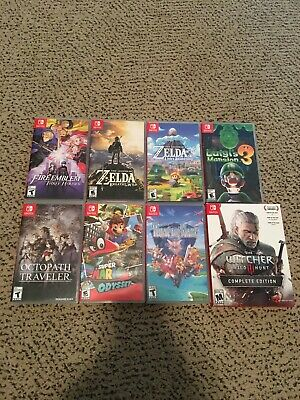 $115 • Buy Nintendo Switch Game Lot Of 8 Games Legend Of Zelda, Witcher, Super Mario, Luigi