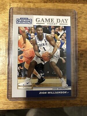 $4.99 • Buy Zion Williamson Panini Contenders Game Day Ticket Rookie