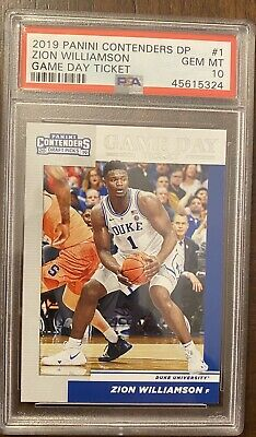 $93.99 • Buy Zion Williamson Rookie Rc 2019 Contenders Draft Picks PSA 10 Game Day Ticket