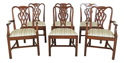 $2895 • Buy LF49514EC: Set Of 6 BAKER Chippendale Mahogany Dining Room Chairs