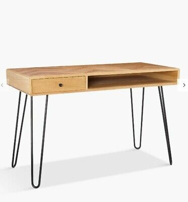 John Lewis Hairpin Desk In Oak • 45£