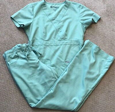 $16.99 • Buy Womens Greys Anatomy Scrub Top/Pants Set By Barco - Mint Green - Size XS/S