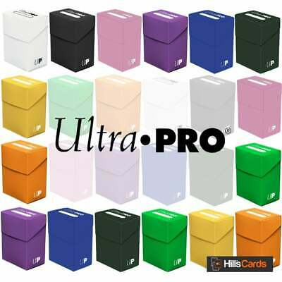 Ultra Pro Solid Deck Box   Trading Card Game Storage Case Holds 80 Sleeved Cards • 5.25£