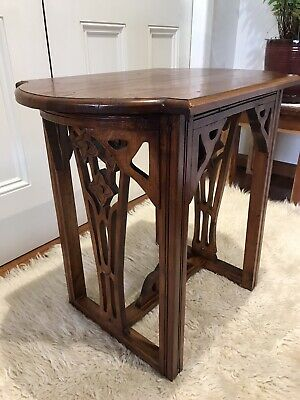 AU195 • Buy Beautifully Carved Vintage Antique Side Table Beautiful Timber - Mahogany