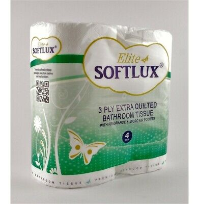 40 Pack Of Soft 3ply Toilet Roll Bathroom Tissue Loo Rolls Fragranced Scented • 15.75£