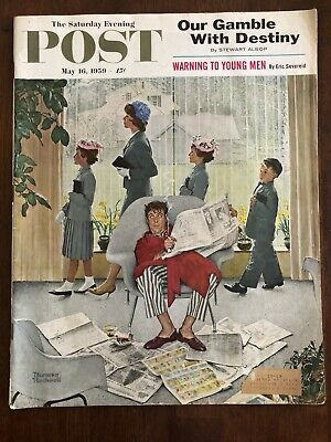 $ CDN13.39 • Buy May 16, 1959 Original Vintage Norman Rockwell Saturday Evening Post Cover (only)