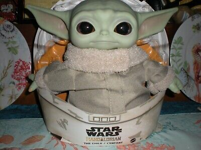 $24 • Buy Large Plush Baby Yoda-the Child Doll With Rubber Head And Hands Realistic-disney