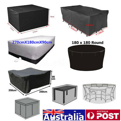 AU49.99 • Buy 10 Size Waterproof Outdoor Patio Garden Furniture Rain Snow UV Cover Table Chair