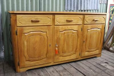 AU297.50 • Buy A Vintage Retro Danish Oak Buffet Sideboard With Hot Plate Warmer C.1970's