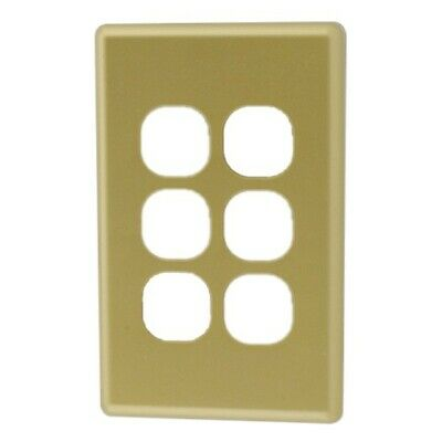 AU3.40 • Buy 6 Gang Gold Cover Plate Including Light Switch - $3.40 Per Unit
