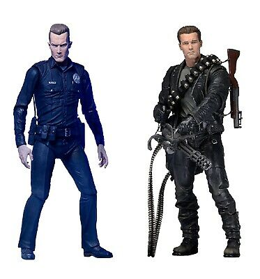 NECA Terminator 2 Ultimate T-800 + T-1000 2 Pack 7  Scale Figure - Official • 69.99£