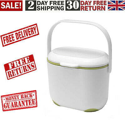 Mini Food Waste Bin Addis 2.5L Kitchen Indoor Compost Caddy Small Removable Lid • 10.40£