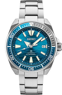 $ CDN393.23 • Buy New Seiko Automatic Prospex Samurai Blue Wave Divers 200M Men's Watch SRPD23