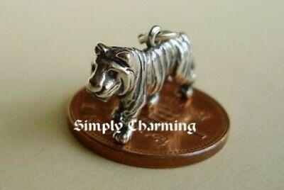 Gorgeous Solid 3d Tiger Sterling Silver Charm Charms • 12.97£