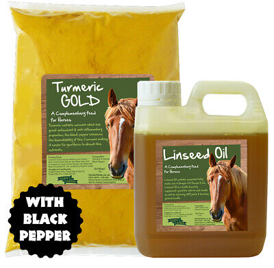 Horse Herbs Turmeric GOLD | Supplement For Horses, Black Pepper, Linseed Oil  • 9.99£