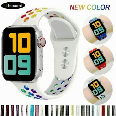 $ CDN9.89 • Buy Replacement Silicone Sport Band 38mm 42mm For Nike+ Apple Watch Series 5 4 3