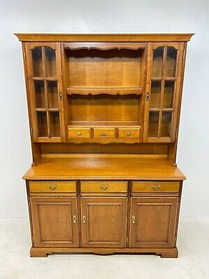 Younger Furniture 836 Glazed Mahogany Dresser Wall Unit Display Cabinet Delivery • 195£