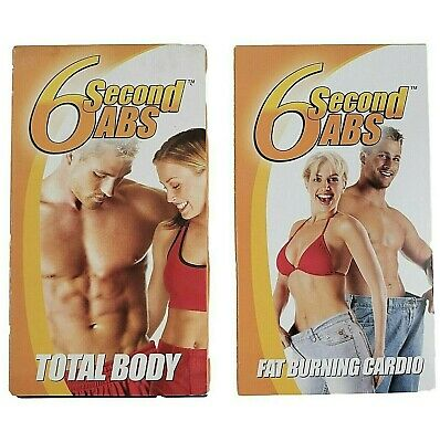 AU25.36 • Buy 6 Second Abs Fat Burning Total Body Exercise Workout Fitness VHS Video Tape Rare