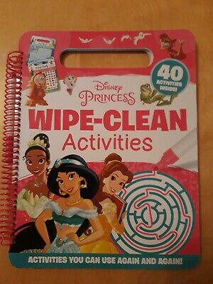 Disney Princess Kids Wipe Clean Activity Book NEW Pen Included! • 3.59£