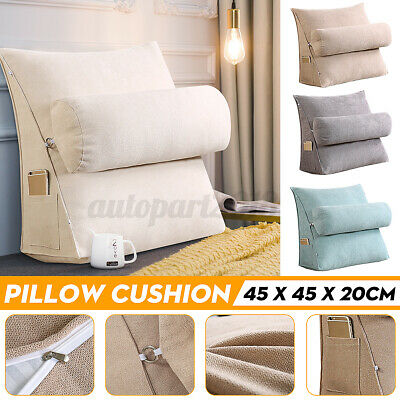 AU33.79 • Buy Lumbar Bed Chair Sofa Office Rest Neck Back Support Wedge Cushion Pillow
